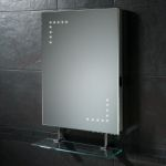 Hib Celeste LED Bathroom Mirror with Shaving Socket and Shelf